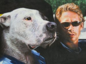 2 Fast 2 Furious dog painting