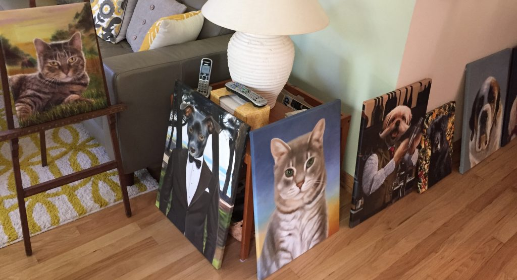 Gallery Wrapped Splendid Beast pet oil paintings