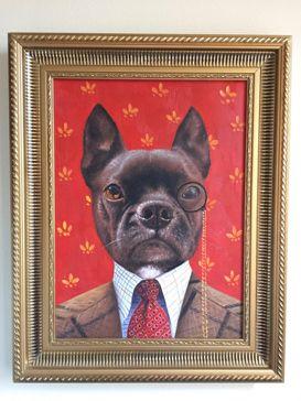 Ben's Dog Gizmo Splendid Beast Oil Painting