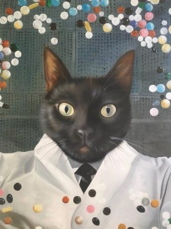 Scientist Cat