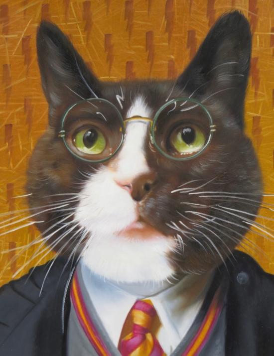 Cat Portrait as Harry Potter