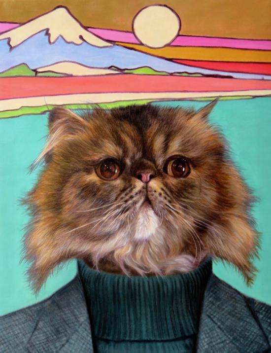 Islander Cat Portrait by Splendid Beast