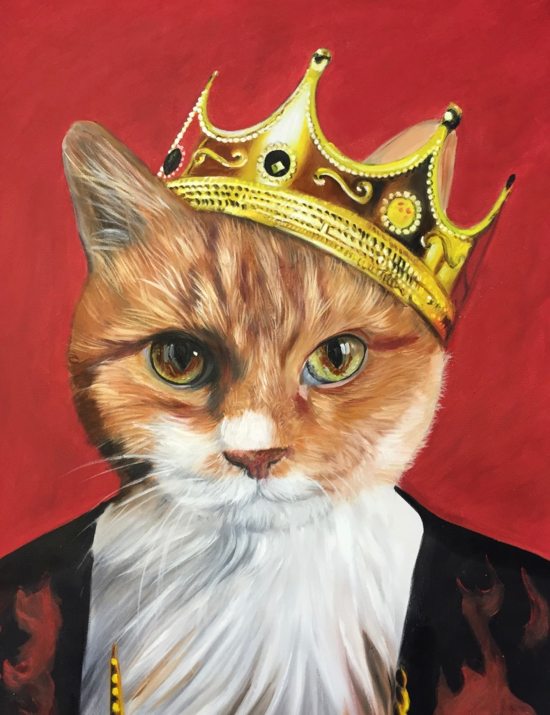 Majesty Cat Painting by Splendid Beast