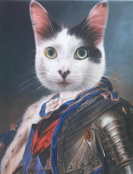 Cat Portrait as Royal Monarch