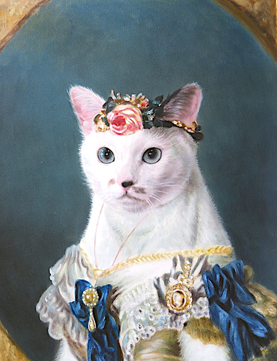 Cat portrait as the Princess of Wales