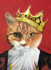Royal cat painting