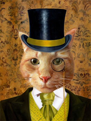 template aristocrat cat painting