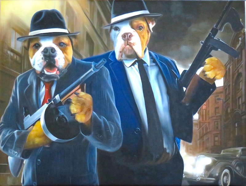 Gangster Dog Painting