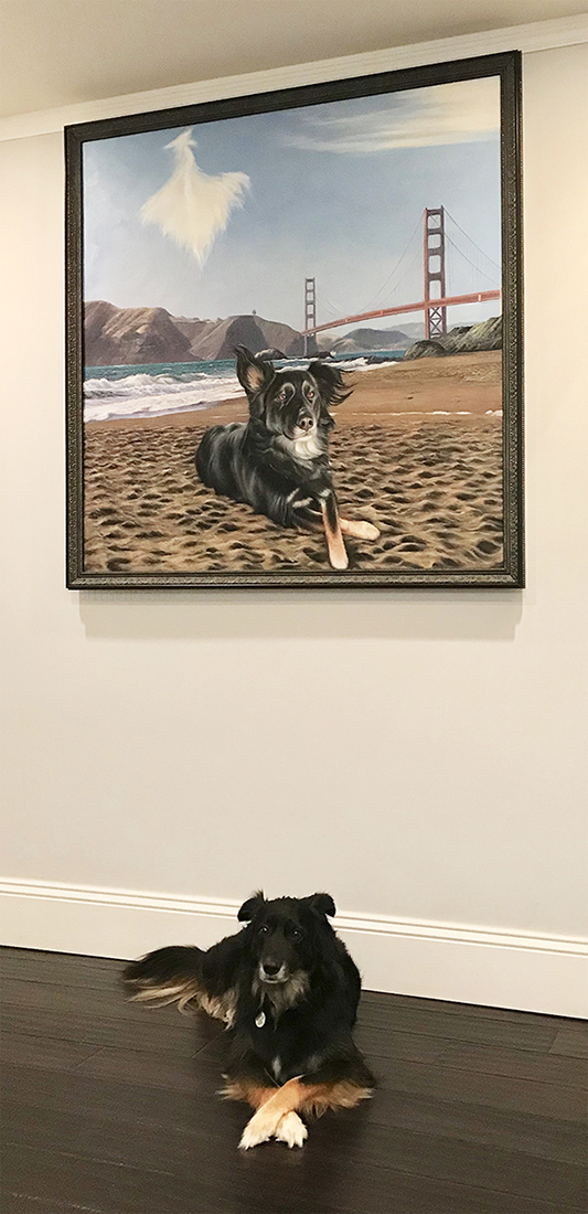 huge dog painting